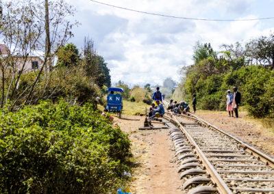 Antsirabe - Pousse pousse et chemin de fer