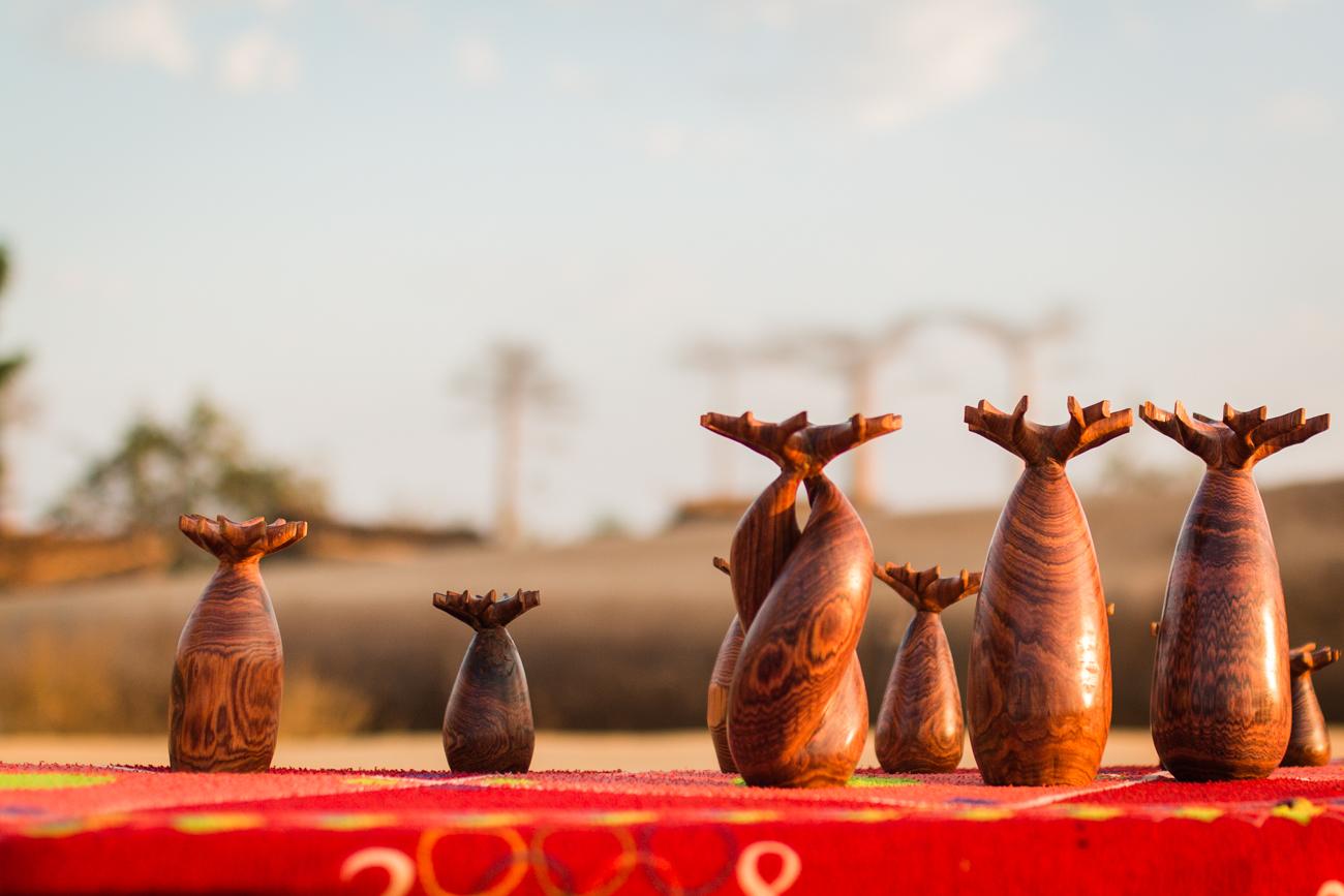 Morondava - Baobabs en palissandre