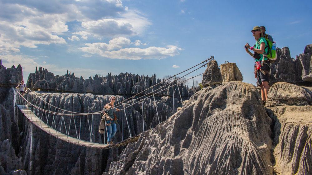 Tsingy de bemaraha - Le pont suspendu