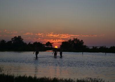 Morondava - baignade au coucher du soleil