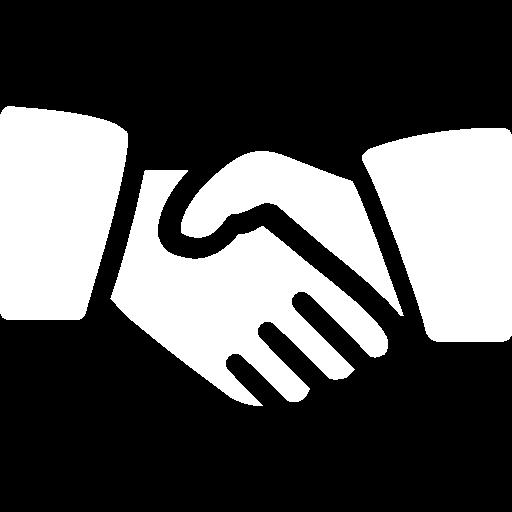hand-shake icon blanc