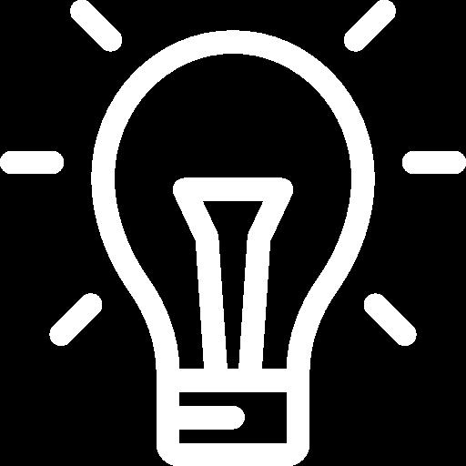 idea icon blanc