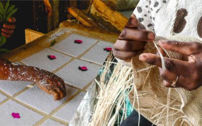 A la découverte du papier d'Antemoro et du raphia crochet