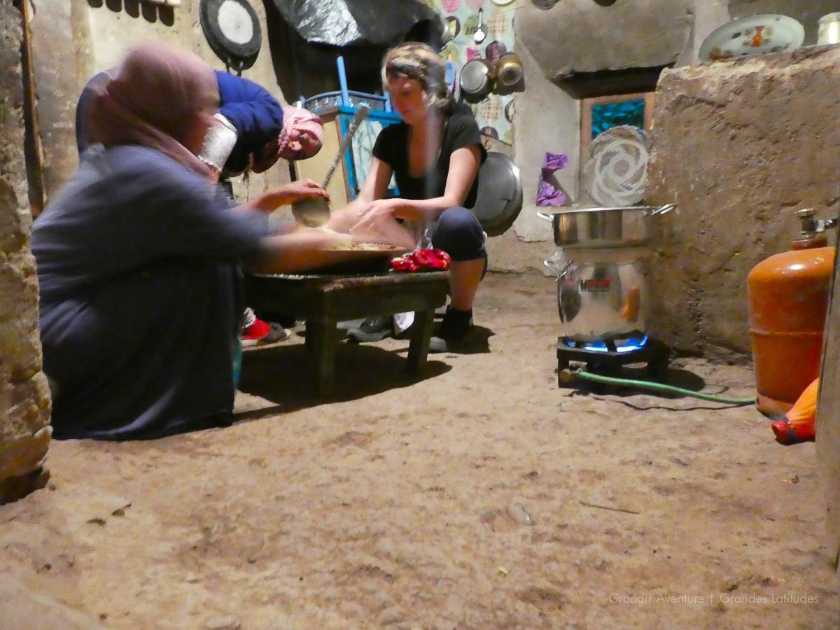 Maroc - R'bat, cours de couscous