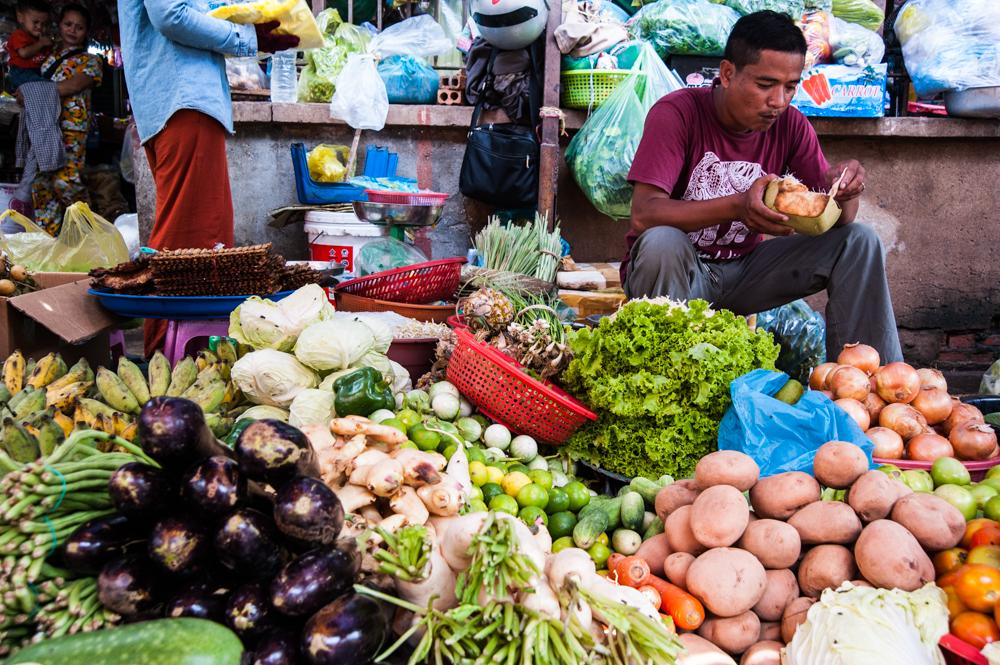 Cambodge - Marché de Battambang (photos Lucy) 9