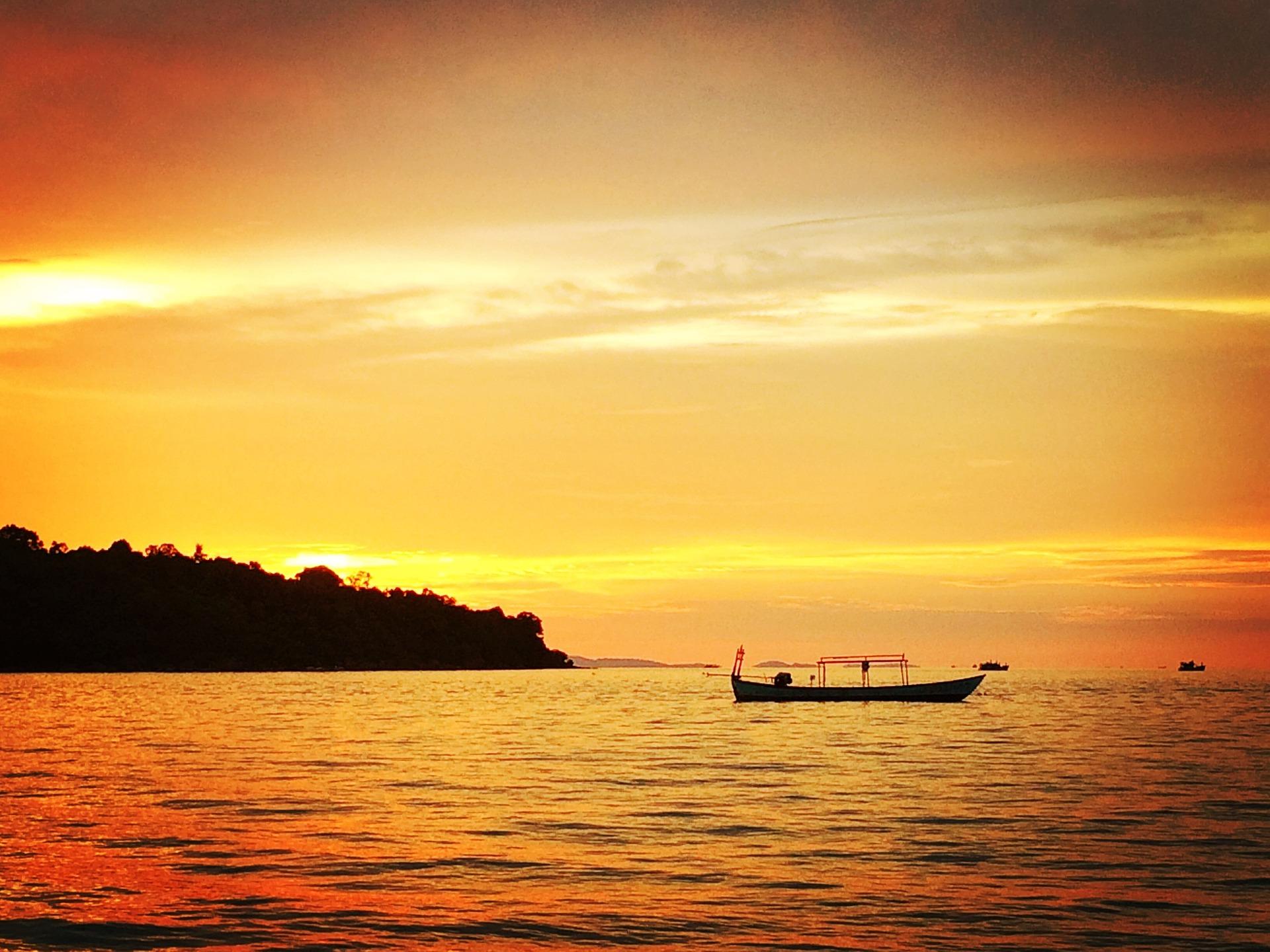 Cambodge - Phnom Penh, coucher de soleil (Pixabay)